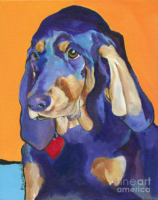 Bloodhound Painting - Augie by Pat Saunders-White