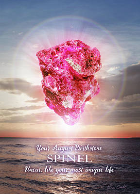 Digital Art - August Birthstone Spinel by Evie Cook
