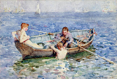 Homoerotic Painting - August Blue by Henry Scott Tuke
