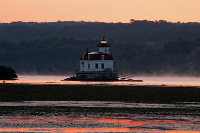 Photograph - August Dawn At Esopus Light I by Jeff Severson