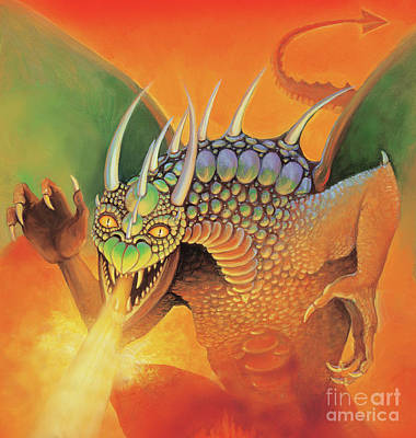 Painting - August Dragon by Rob Corsetti