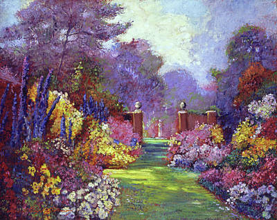 Painting - August Estate Garden by David Lloyd Glover