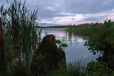 Photograph - August Evening At The Lake Enajarvi by Ismo Raisanen