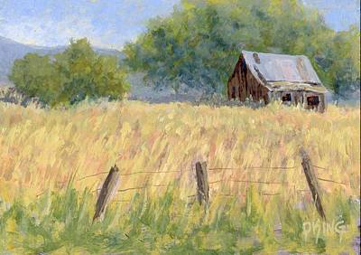Old Barns Painting - August Field by David King
