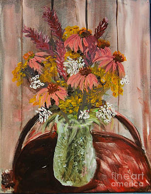 Painting - August Flowers by Francois Lamothe
