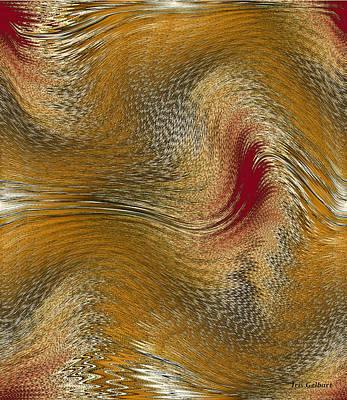 Digital Art - August Ripples by Iris Gelbart