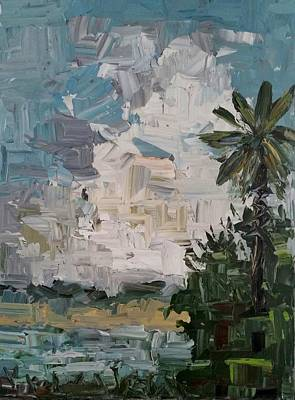 Lake Low Country Painting - August Sky  by Tommy Beaver