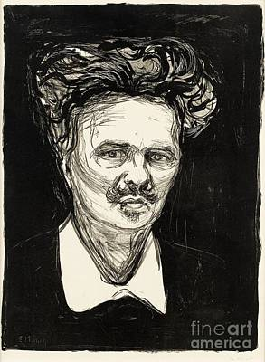 Munch Painting - August Strindberg by Celestial Images
