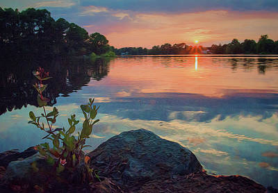 Photograph - August Sunset by Beth Sawickie