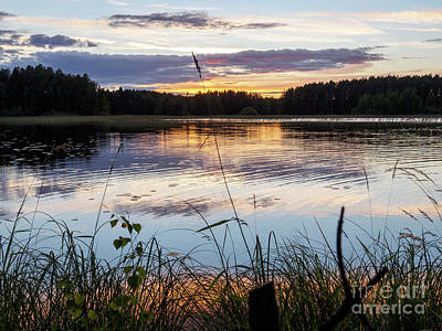 Photograph - August Sunset In Kangaslampi by Ismo Raisanen