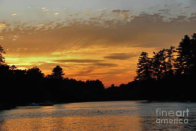 Loon Photograph - August Sunset On Tacoma by Sandra Huston