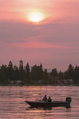 Photograph - August Sunset Over Yukon Harbor.1 by E Faithe Lester