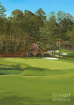 Painting - Augusta 11 And12th Hole Ver by Tim Gilliland