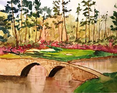 Painting - Augusta - 12th Hole by Larry Hamilton