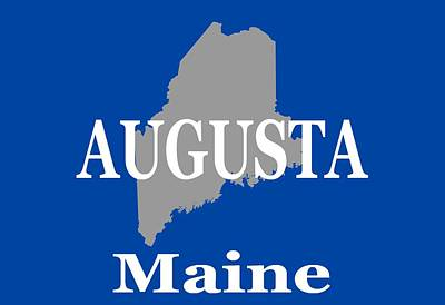 Photograph - Augusta Maine City And Town Pride  by Keith Webber Jr