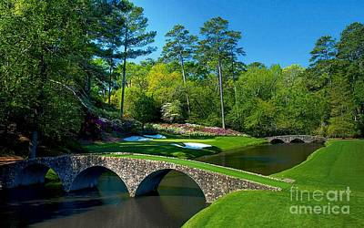 Azalea Photograph - Augusta National #12 - Golden Bell by Michael Graham