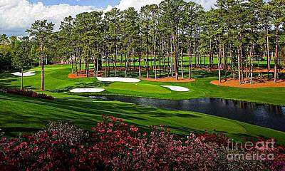 Digital Art - Augusta National Gc #16 by Michael Graham