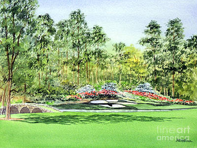 Painting - Augusta National Golf Course by Bill Holkham