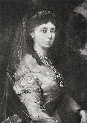 Saxe Drawing - Augusta Of Saxe-weimar-eisenach, 1811 by Vintage Design Pics