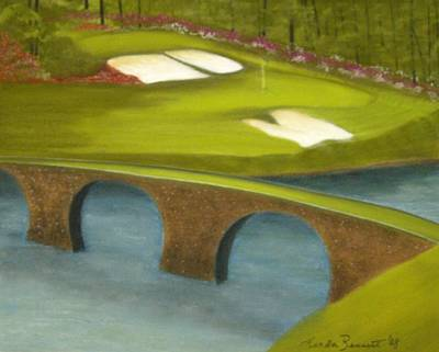 Pastel - Augusta-the 12th Hole by Linda Bennett