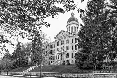 Augustana Photograph - Augustana College Old Main Landscape by University Icons
