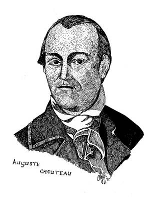 Drawing - Auguste Chouteau by Clayton Cannaday