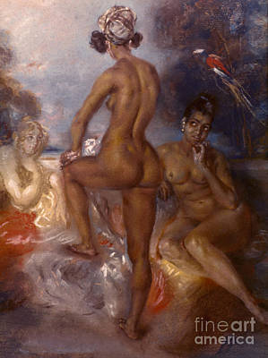 Asian Nude Painting - Auguste Native Americans by Granger