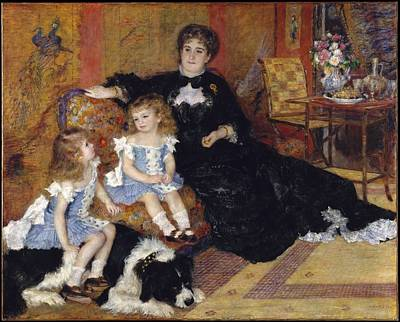 Berthe Digital Art - Auguste Renoir    Madame Georges Charpentier Margurite Louise Lemonnier 18481904 And Her Children Georgette Berthe 18721945 And Paul Mile Charles 18751895 by Rose Lynn