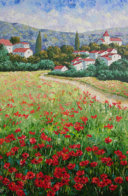 South Of France Painting - Aujac Provence by Frederic Payet