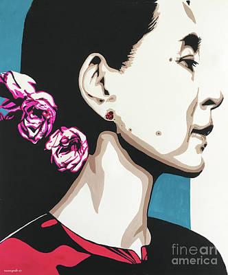 Painting - Aung San Suu Kyi Part 3 by Nancy Mergybrower