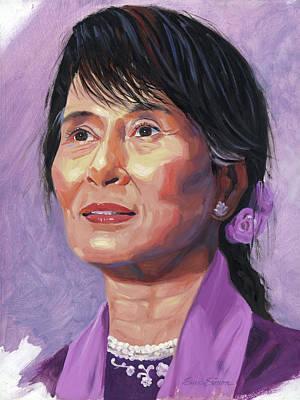 Aung San Suu Kyi Art Print by Steve Simon