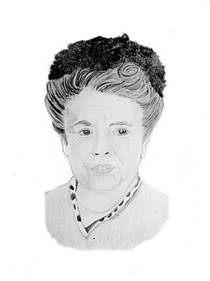 Andy Griffith Show Drawing - Aunt Bea by Dale Ballenger