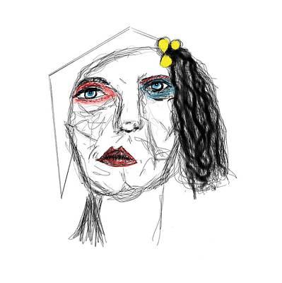 Drawing - Aunt Bessie by Bill Owen