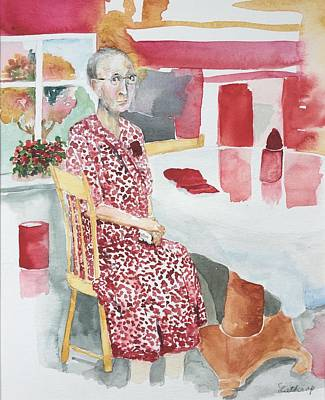 Painting - Aunt Dell by Christine Lathrop
