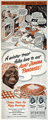 Stereotype Photograph - Aunt Jemima Ad, 1948 by Granger