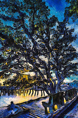 Aunt Kate's Old Live Oak Art Print