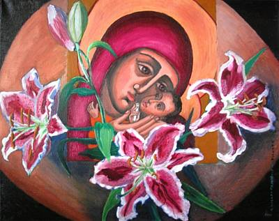 Painting - Aunt Katya's Icon by Vera Smith