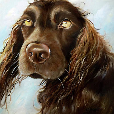 Boykin Spaniel Painting - Aunt Myrtle by Mary Sparrow