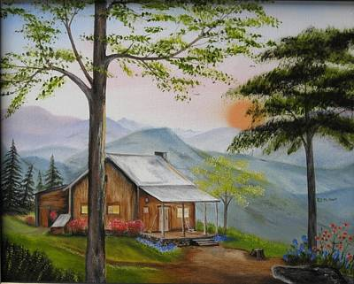Painting - Auntie's Cabin by RJ McNall