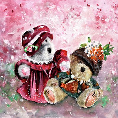 Painting - Aunties Lola De Goodaboom And Fanny De Bearymoore by Miki De Goodaboom