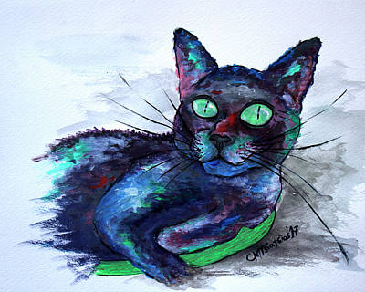 Painting - Aunt's Beautiful Companion, Ms. Biscuit by Carol Tsiatsios