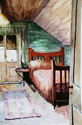 Painting - Aunty Dot's Room by Kathy  Karas