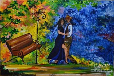 Heartbeat Painting - Aura Of Autumn Love  by Esrat Jahan