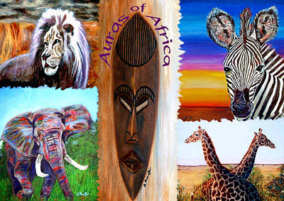 Painting - Auras Of Africa by Donna Proctor