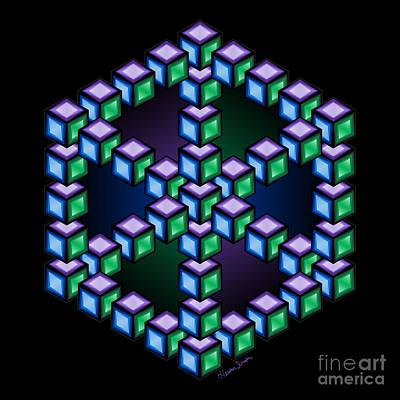 Digital Art - Aurelia Cube by Heather Schaefer