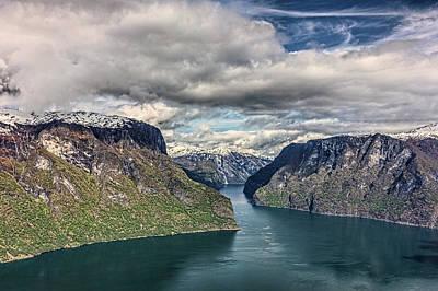 Photograph - Aurlandsfjorden by Josh Bryant