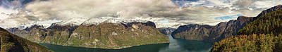 Photograph - Aurlandsfjorden Panorama by Josh Bryant