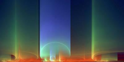 Digital Art - Auroas At Sunrise by Richard Ortolano