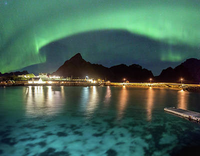 Aurora Above Turquoise Waters Art Print
