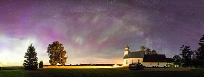 Aurora And Milky Way  Art Print by Lorraine Matti